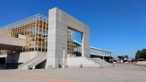 L'entrée du Palais des Sports