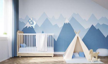 DIY Déco Murale Montagne Chambre de Bebe