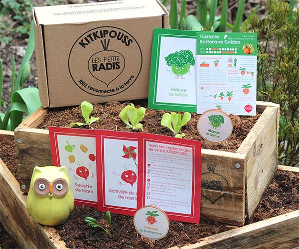 Kitkipouss Les Petits Radis Le Kit du potager pour les enfants