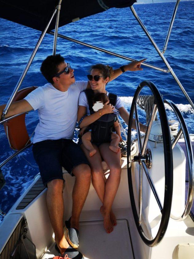 Voyager en bateau avec un bébé