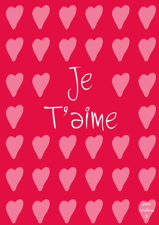 Imprime Ta Carte De Saint Valentin