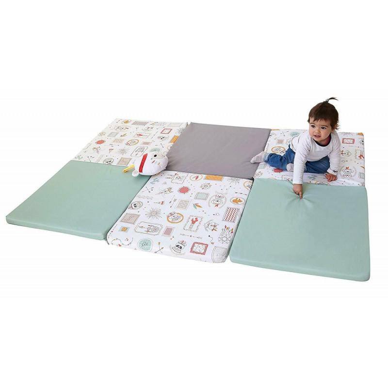 grand tapis d eveil pliable et assemble en france coloris vert