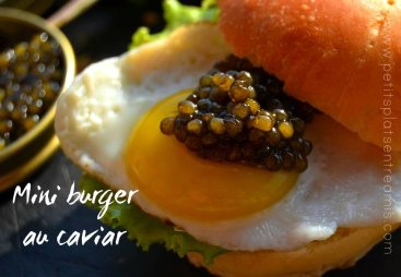 Mini burger au caviar