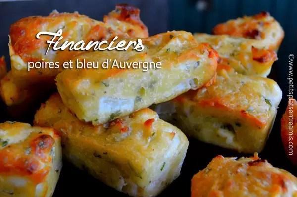 Financiers aux poires & bleu d'Auvergne