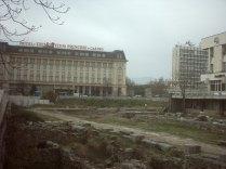 Поглед на юг към Хотел Тримонциум