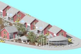 Приемна сграда с магазин