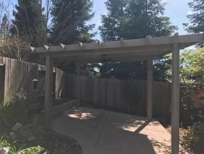 free standing patio cover fair oaks ca
