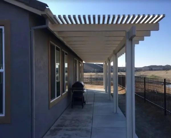 Dura Wood Lattice 2 Quot Wall Attached Patio Cover Rio Vista Ca