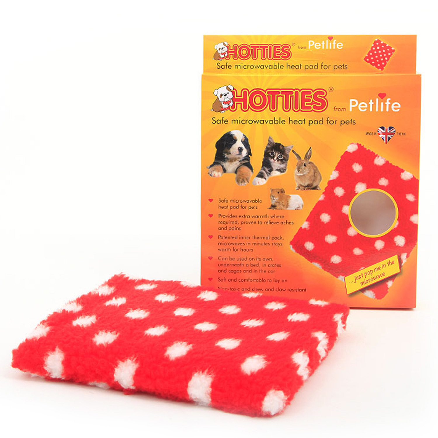 hotties is a microwavable heat pad for pets an ideal hot water bottle