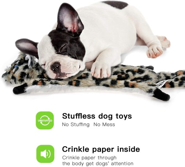 Dog Squeaky Toys No Stuffing, 6 Pack Dog Toys Crinkle Dog Toys for Small Dogs Durable Dog Chew Toys Plush Cute Animals Natural Puppy Toys for Teething Pet Toys Squeak
