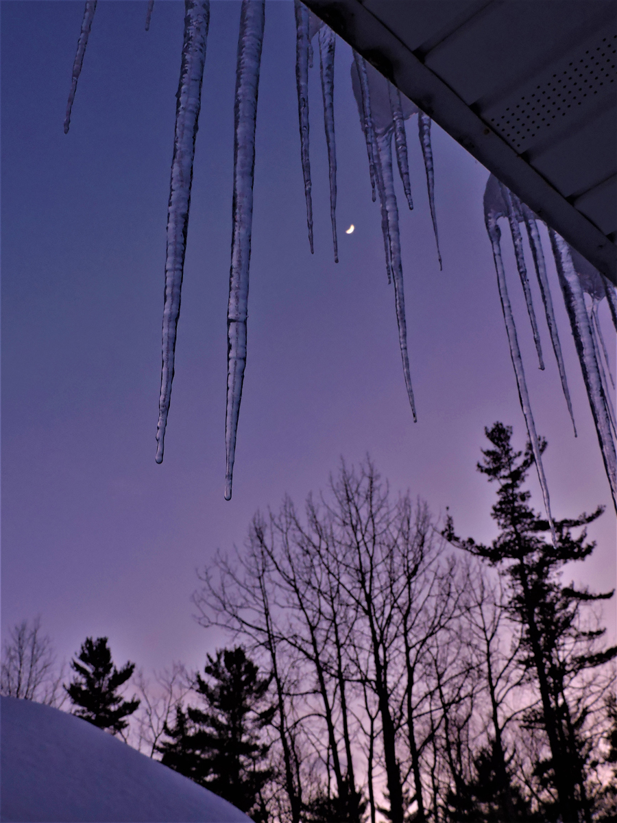"""Cynthia Johnson's """"Icicles Over Crescent Moon"""""""