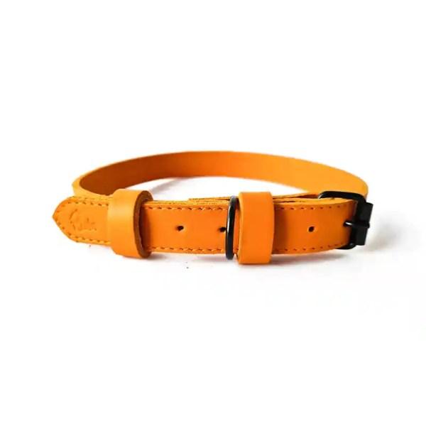 Riola Design Orange prémium bőr kutyanyakörv