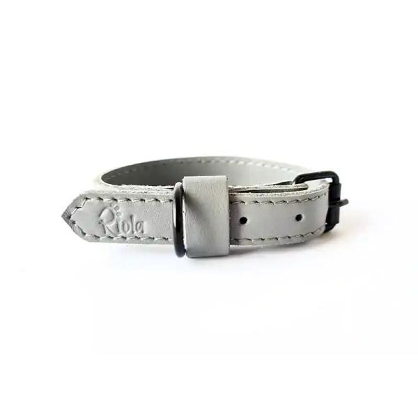 Riola Design Silvergrey prémium bőr kutyanyakörv