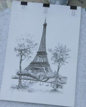Der Eiffelturm in Paris. Foto: Petra Grünendahl, 2010.