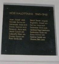 II.világháborús hősök emléktáblája - Stasney Béla