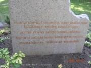 Esterházy János szobrának hátsó felirata - Tatabánya