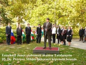ifj. Dr. Petrássy Miklós beszéde - Esterházy szoboravatás