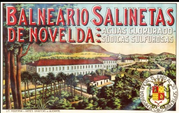 Cartel publicitario de 1930 (fotografía cedida por Pau Herrero).