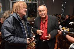 S kamarádem Karlem Vágnerem, který byl jeho prvním baskytaristou v orchestru Pastýři rok 1966.