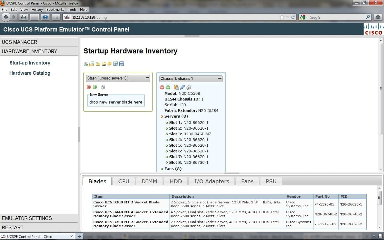 UCSPE Start-up Inventory