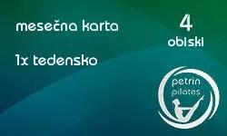 mesečna karta za pilates