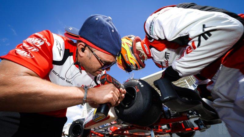 Alex Irlando is training for the FIA Karting OK World Championship