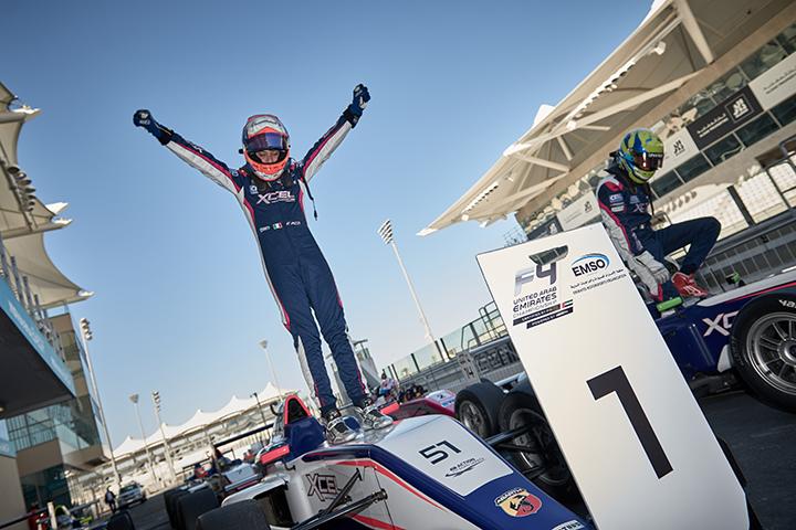 Doppio trionfo per Francesco Pizzi a Yas Marina Circuit