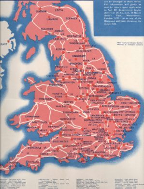 1930s Diesel Road maps of Great Britain Click for expanded area