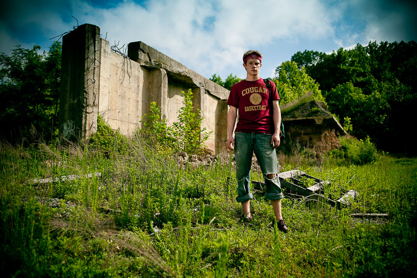 Portrait Session at the Urban Ruins in Bowie, MD