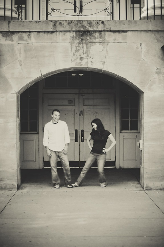 Couple in archway at UMD college park