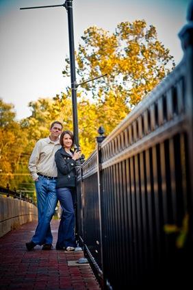 man and woman in Ellicott City on bridge