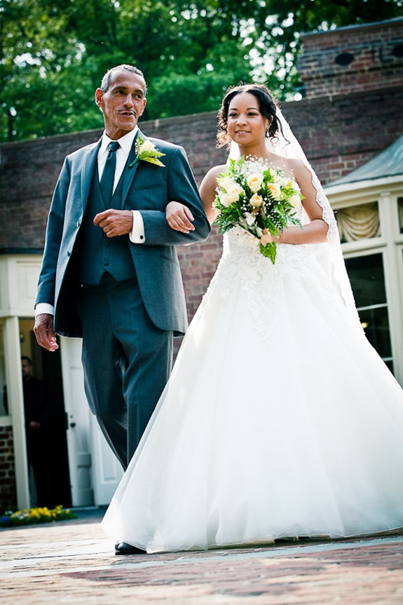bride with father  at the Newton White Mansion in Mitchellville MD