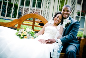 bride and groom  at the Newton White Mansion in Mitchellville MD