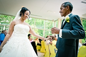 bride dancing with father  at the Newton White Mansion in Mitchellville MD