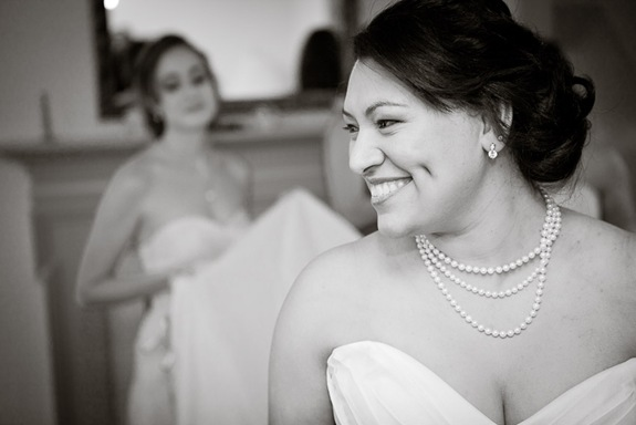 bride prepping at Mt. Airy Mansion in Upper Marlboro Maryland