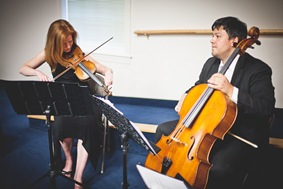 Strings Quartet Playing at Wedding