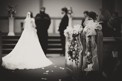 bride and groom at the alter in Annapolis EP