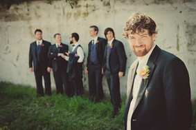 groom and groomsmen in Annapolis MD