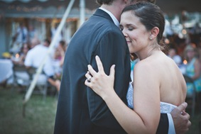 Bride and Groom's frist dance during reception at Bay Ridge Club in Annapolis MD