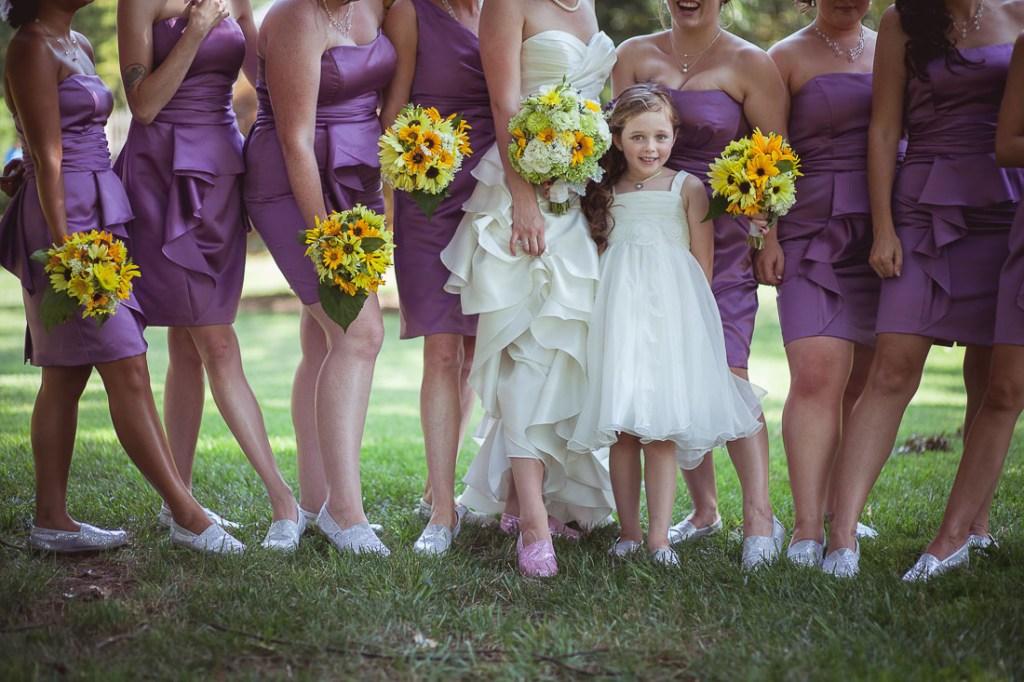 bridesmaids-in-flats-at-wedding