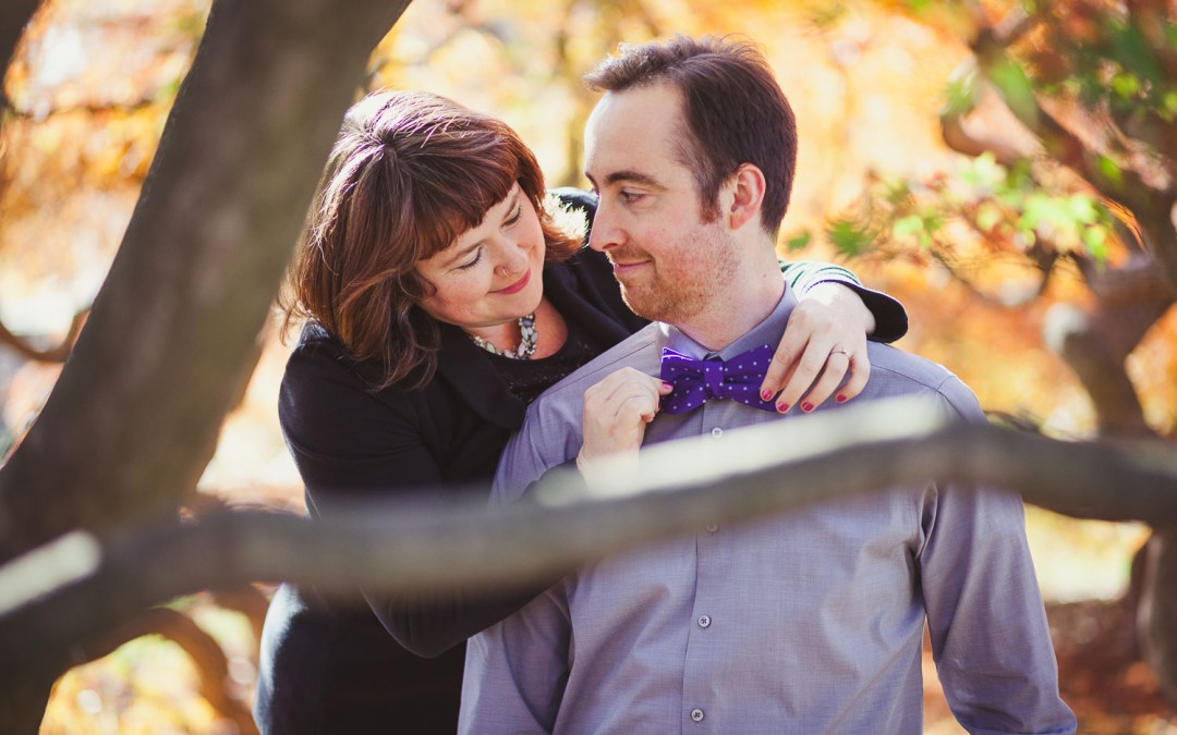 Maeve & Craig's Fall Engagement Session, Now With 100% More Musical Instruments!