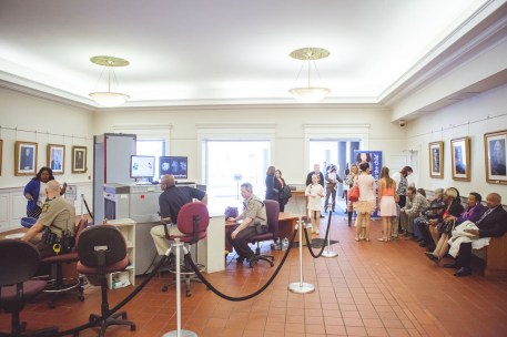 The lobby in the Annapolis courthouse