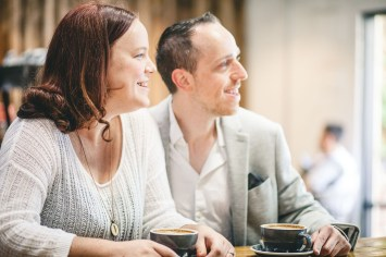 Coffee and murals engagement session in Annapolis petruzzo photography 03