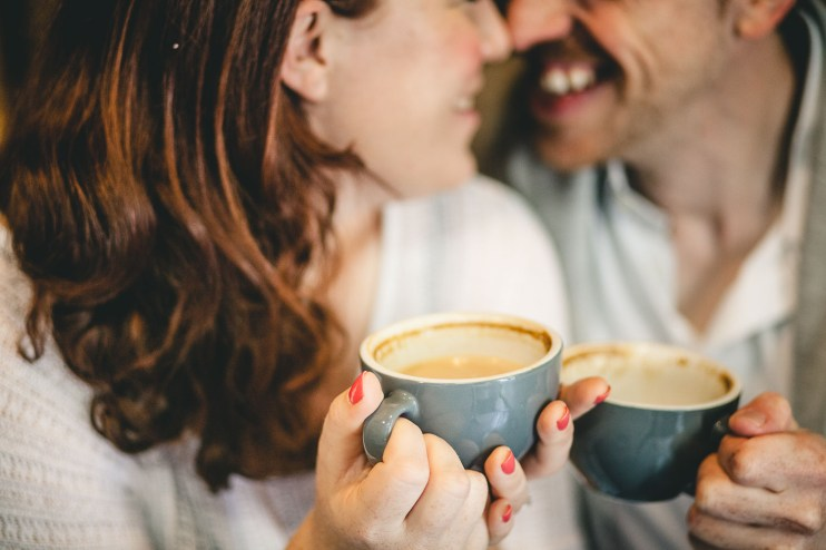 Coffee and murals engagement session in Annapolis petruzzo photography 07