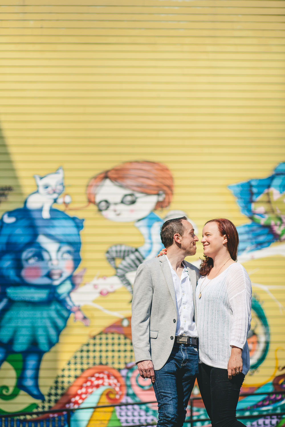 Coffee and murals engagement session in Annapolis petruzzo photography 12