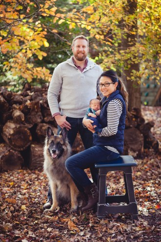 A Newborn Family Forest Portrait 07