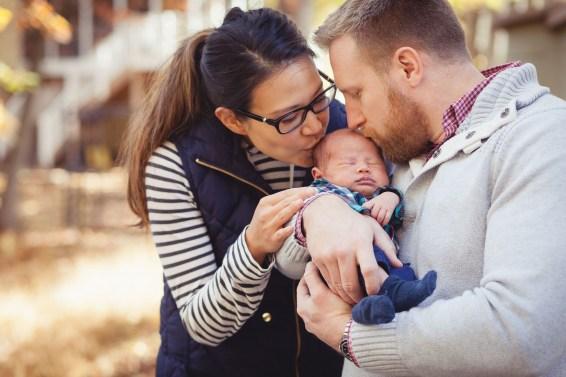 A Newborn Family Forest Portrait 09
