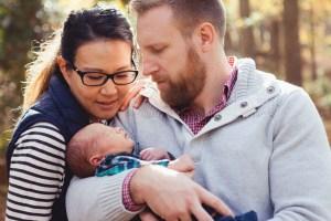 A Newborn Family Forest Portrait 13