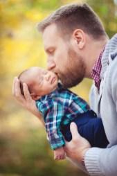 A Newborn Family Forest Portrait 14