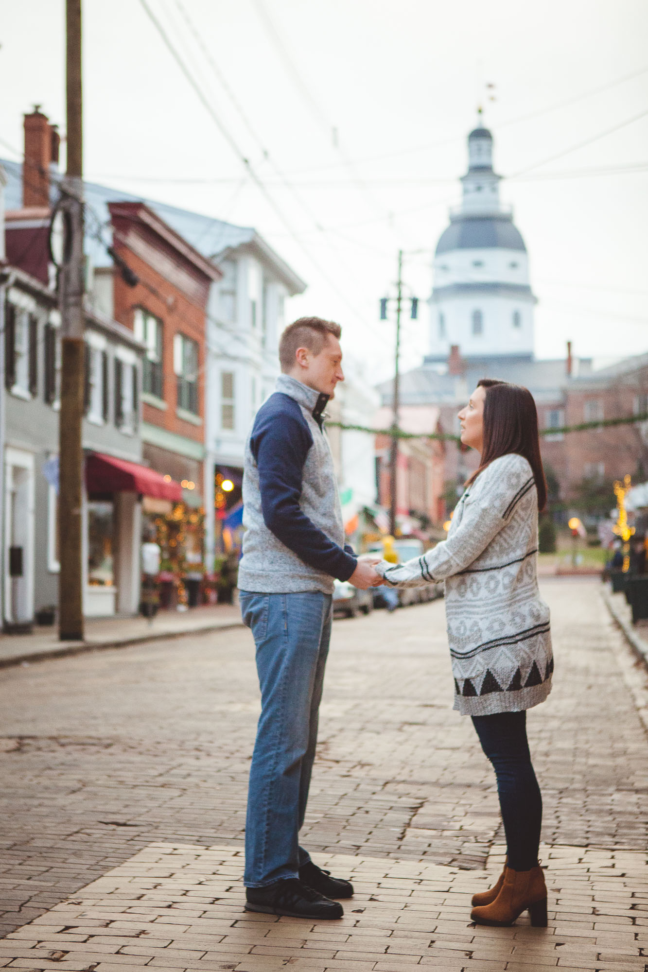 Engagement Session Turned Proposal Downtown Annapolis Petruzzo Photography 17